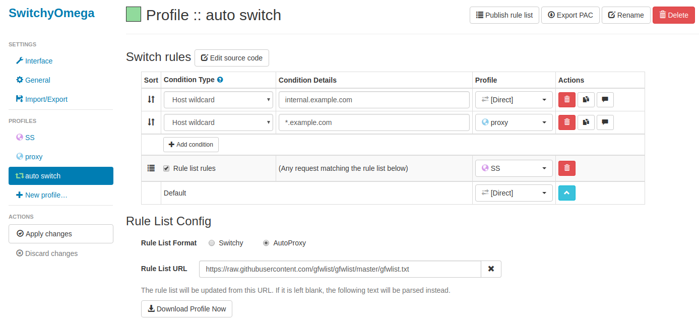 Ubuntu16.04 & shadowsocks以及Proxy SwitchyOmega实际安装教程