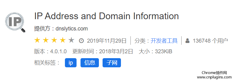 IP Address and Domain Information插件概述