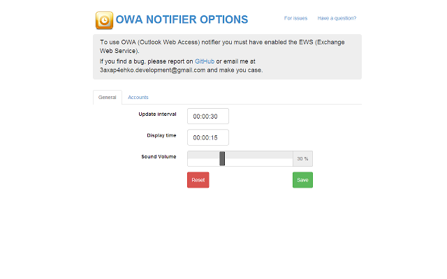 Outlook Web Access notifier插件图片