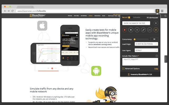 BlazeMeter:脚本录制工具 Chrome插件图片