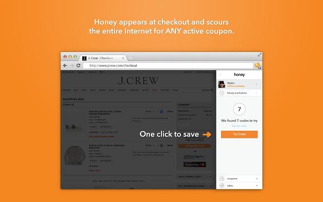 Honey - 自动寻找优惠券和促销码 Chrome插件图片