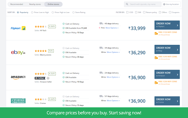 MySmartPrice 2.0 - 智能比价插件 Chrome插件图片