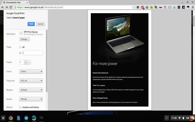 IPP / CUPS printing for Chrome & Chromebooks Chrome插件图片