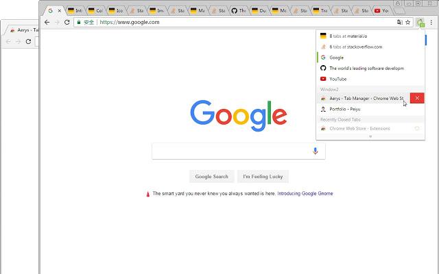 Aerys - 窗口标签管理器 Chrome插件图片