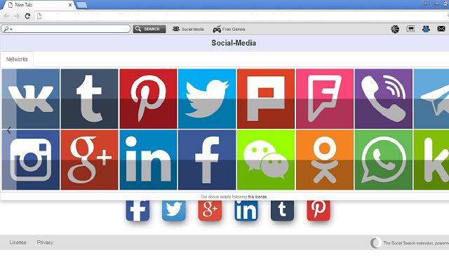 SocialNewPage Chrome插件图片