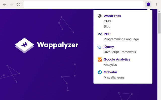 wappalyzer chrome插件