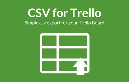 CSV Export for Trello v0.11.0