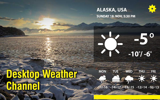 Desktop Weather Channel v0.8.1插件图片