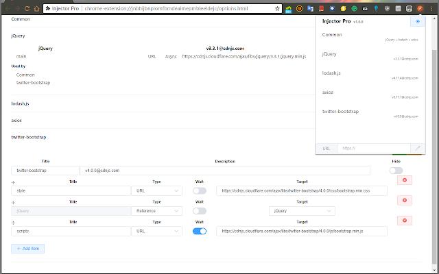 注入专家 Chrome插件图片