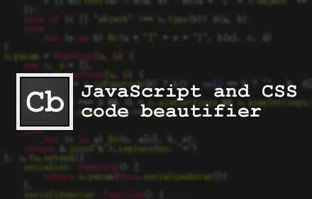 JavaScript and CSS Code Beautifier v3.3.4