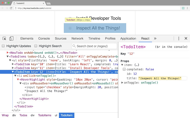 React Developer Tools v3.6.0插件图片
