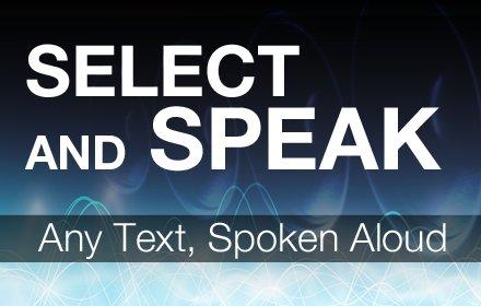 Select and Speak 文字到語音 v0.2.100 Chrome插件LOGO图片