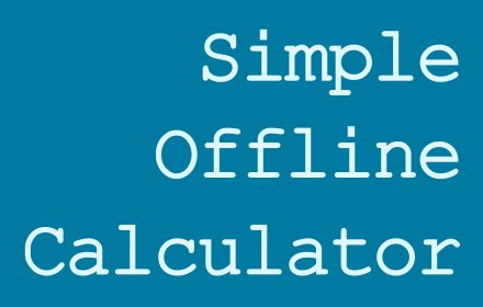 Simple Offline Calculator v0.6.1