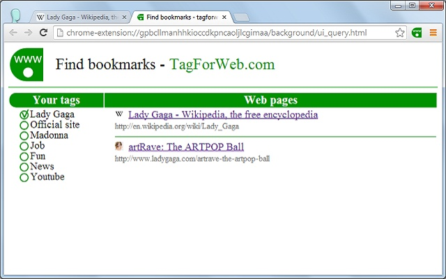 TagForWeb - Bookmarks with Tags v3.5.1插件图片