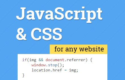 User JavaScript and CSS