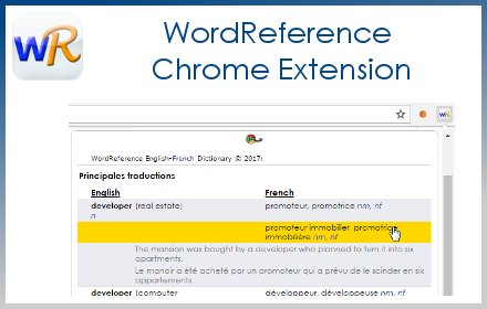 WordReference Extension v5.2